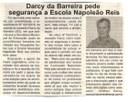 Darcy da Barreira pede segurança a Escola Napoleão Reis. Jornal Expressão Regional, Conselheiro Lafaiete, 24 mar. 2018 a 30 mar. 2018, 523ª ed., p. 3.