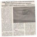 João Paulo denuncia roubo de luminárias no túnel e culpa empreiteira por apagão; vereador cobra rampa de acesso a deficientes. Jornal Expressão Regional, Conselheiro Lafaiete ,14 mai. 2018 a 25 mai. 2018, 531ª ed., p. 3.