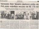 Vereador Alan Teixeira destaca união do PHS para viabilizar recurso de R$ 170 mil. Jornal Correio da Cidade, 09 jun. 2018 a 15 jun. 2018. 1425ª ed., Caderno Política, p. 6.