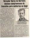 Vereador Darcy da Barreira destaca compromissos do Executivo para melhorias no Gagé. Jornal Correio da Cidade, 16 jun. 2018 a 22 jun. 2018. 1426ª ed., Caderno Política, p. 6.