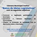 """CÂMARA MUNICIPAL INSTITUI """"BANCO DE IDEIAS LEGISLATIVAS"""""""