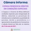 GOVERNO E COPASA FACILITAM RENEGOCIAÇÃO DE DÉBITOS EM CONDIÇÕES ESPECIAIS